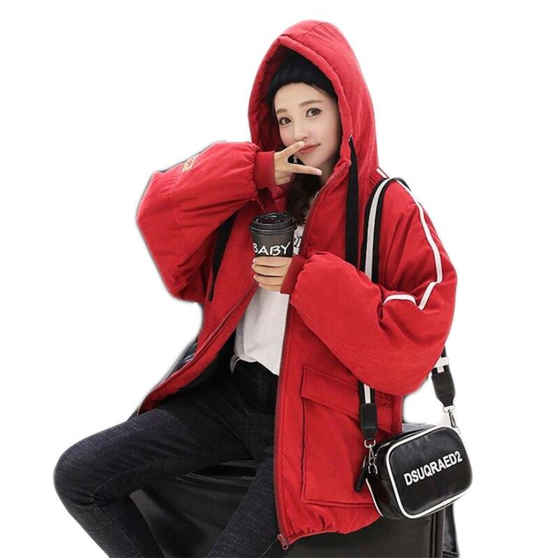 black Vêtements Capuche Khaki Femme Avec Étudiant Manteau 2018 A380 D'hiver Parka red Coréenne Coton Veste Lâche Femmes W6RfIqa