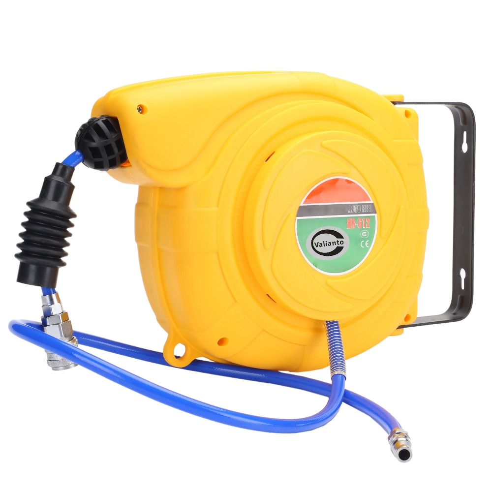 HR-612 6.5x10mm 1M Power Retractable Air Hose Reel Air Blower Industrial Blower Pneumatic Tools цена