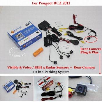 For Peugeot RCZ 2011 Car Parking Sensors Sensor Reverse Rearview Back Up Camera Auto Alarm System фото