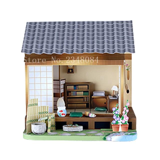 Japanese 3d Paper Model Buildings Bookstore Paper Craft Cube Diy
