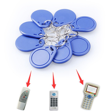 10pcs/lot RFID hotel key fobs 125KHz rewritable keychain  and rewritable proximity ABS tags for RFID copier