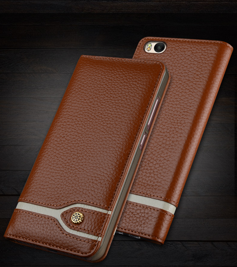 5.15 Inch External Leather + PC For XiaoMi mi 5s 5 s Back Case protection Battery Back Cover Case Cover For XiaoMi mi5s