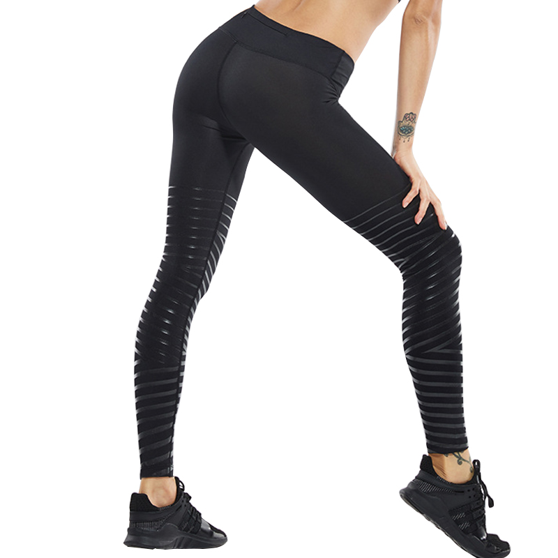 BESGO Running Pants Women Medium Waistband With Back Small Pocket Reflective Yoga Pants High Quality Fabric Gym Sports Trousers