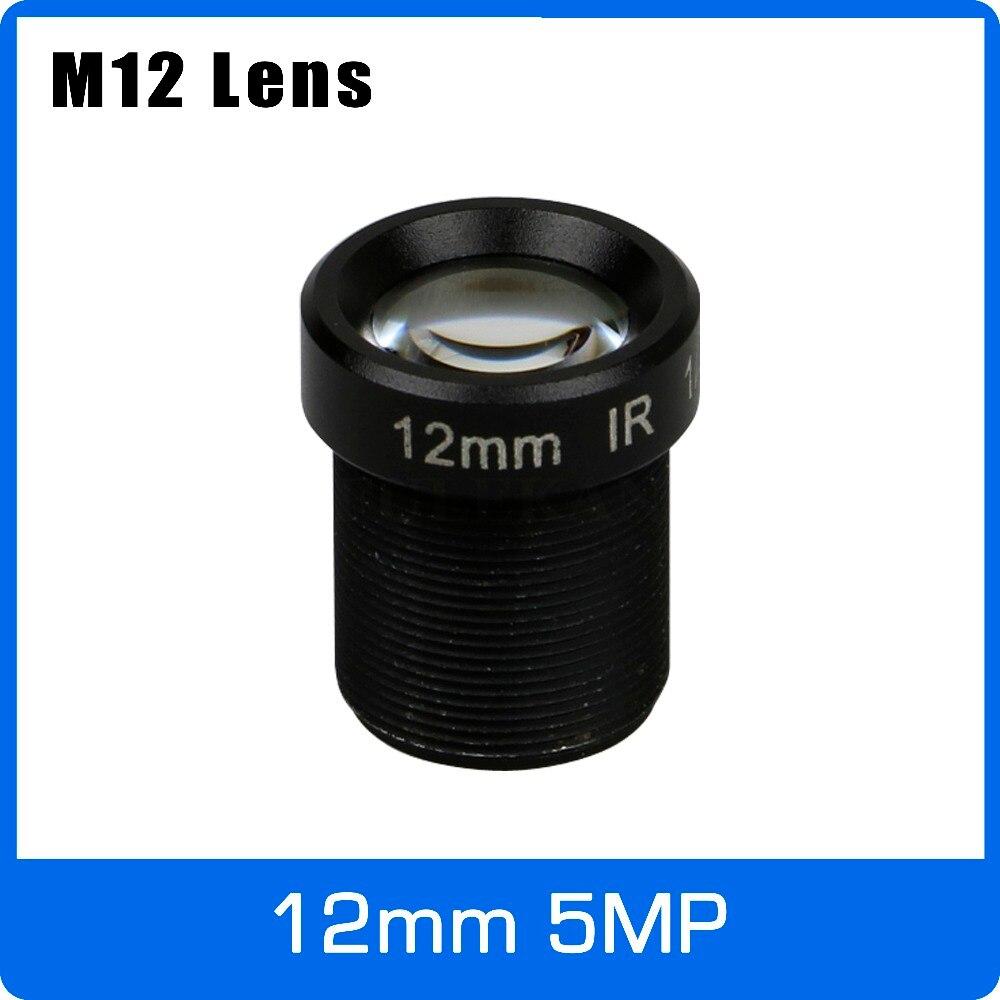 5 Mégapixels M12 Fixe 1/2. 5 pouce 12mm Objectif CCTV Vue À Longue Distance Pour 1080 P/4MP/5MP AHD Caméra Caméra IP Livraison Gratuite