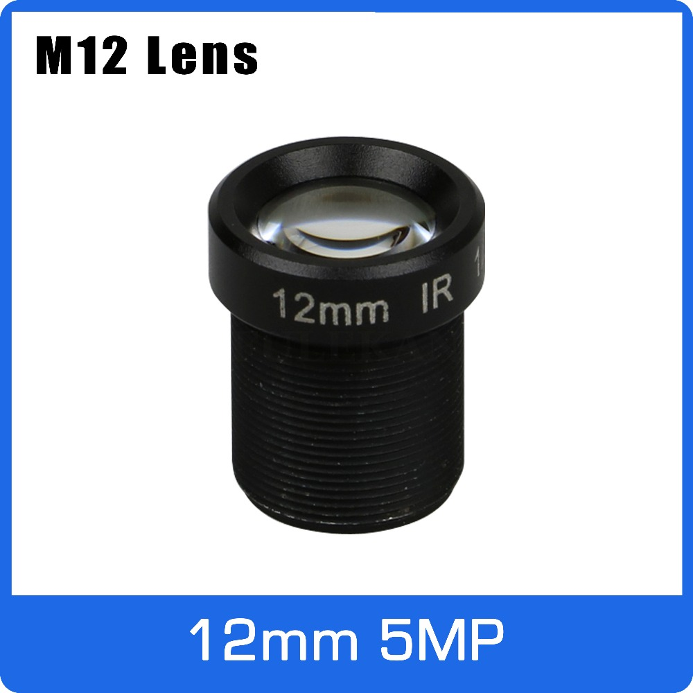 5Megapixel M12 Fixed 1/2.5 Inch 12mm CCTV Lens Long Distance View For 1080P/4MP/5MP AHD Camera IP Camera Free Shipping