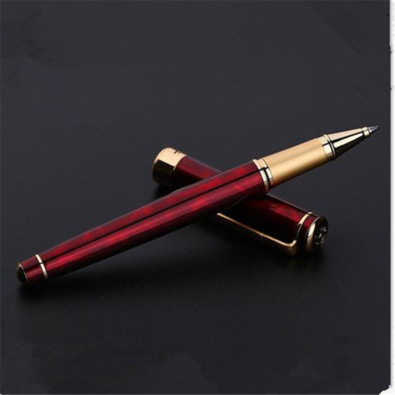 1pc/lot Picasso 902 Roller Ball Pen Red Pen Gold Clip Pimio Picasso Pens Writing/Office Supplies Canetas Stationery 13.6*1.3cm 1pcs lot free shipping picasso fountain pen 986 pimio picasso pens for women girls gifts 5 colors white red brand pen not box