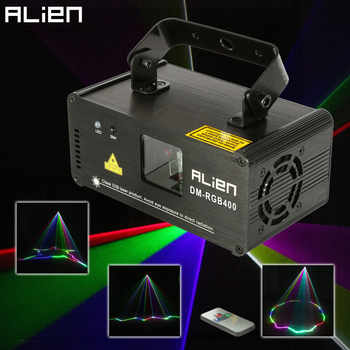 ALIEN Remote RGB 400mw DMX512 Laser Line Scanner Stage Lighting Effect Projector Light DJ Dance Bar Xmas Party Disco Show Lights - DISCOUNT ITEM  15% OFF All Category