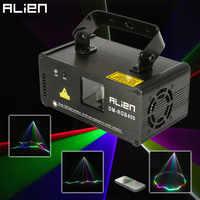 ALIEN Remote RGB 400mw DMX512 Laser Linie Scanner Bühne Beleuchtung Wirkung Projektor Licht DJ Dance Bar Xmas Party Disco show Lichter