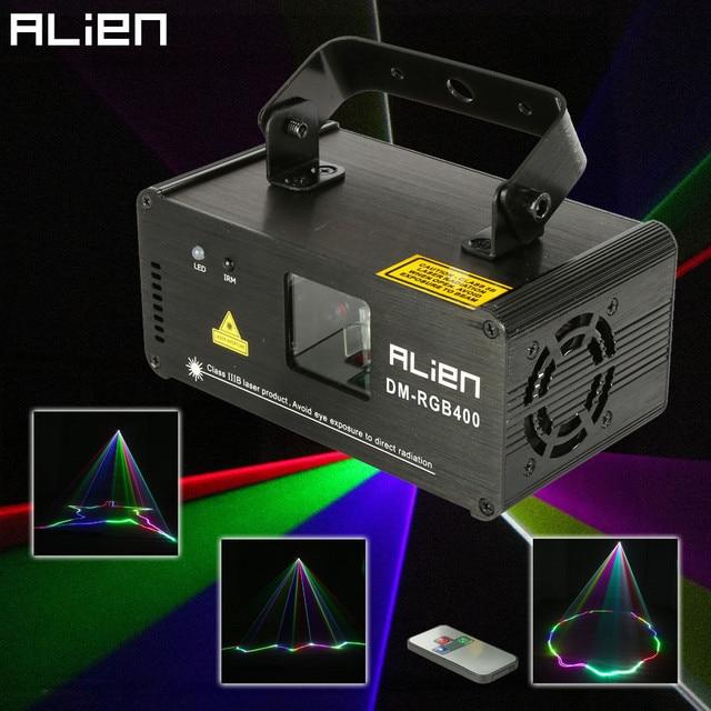 Alienígena remoto rgb 400mw dmx512 linha laser scanner efeito de iluminação palco luz do projetor dj dança bar festa natal discoteca mostrar luzes
