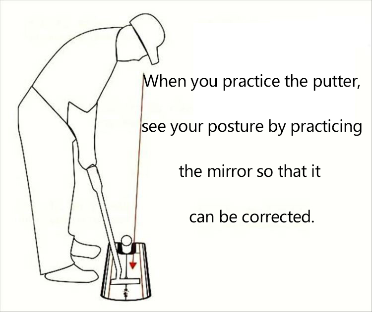 Golf Putting Mirror Alignment Training