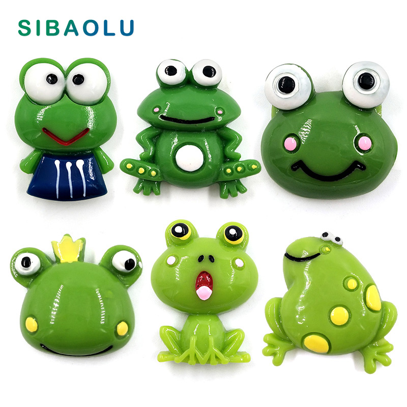 6pcs Frogs fridge magnet Kid souvenir Resin craft refrigerator Magnetic sticker home decor decoration accessories toys