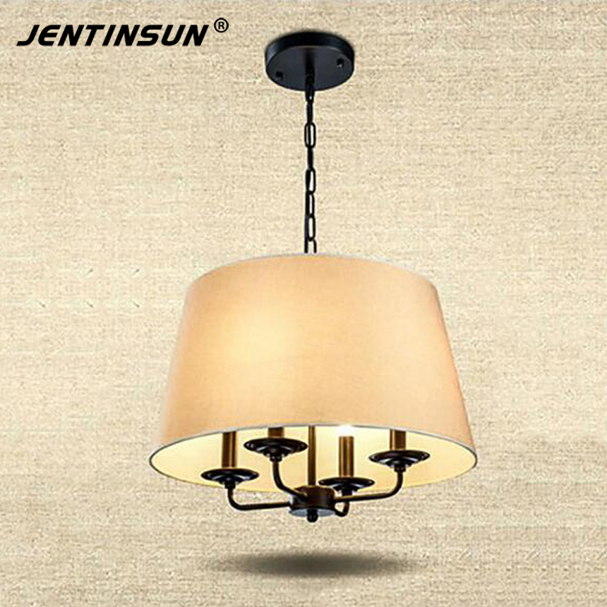 European Style Pendant Light Simple Iron Cloth Hanging Pendant Lights Lamp For Living Room Coffee Shop 3 Color Green crysta lamp pendant lights lounge dining room bedroom lamp lychee simple new european style warm crystal hanging lamp