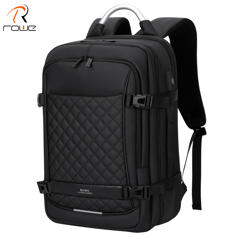ROWE Men Backpack Multifunction USB 15 6 Inch Laptop Mochila Fashion Business Large Capacity Waterproof Travel