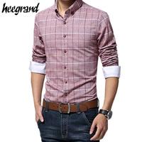 2015 Hot Sale Man S Spring Popular Slim Plaid Warm Long Sleeve Shirt Masculine Camisas With