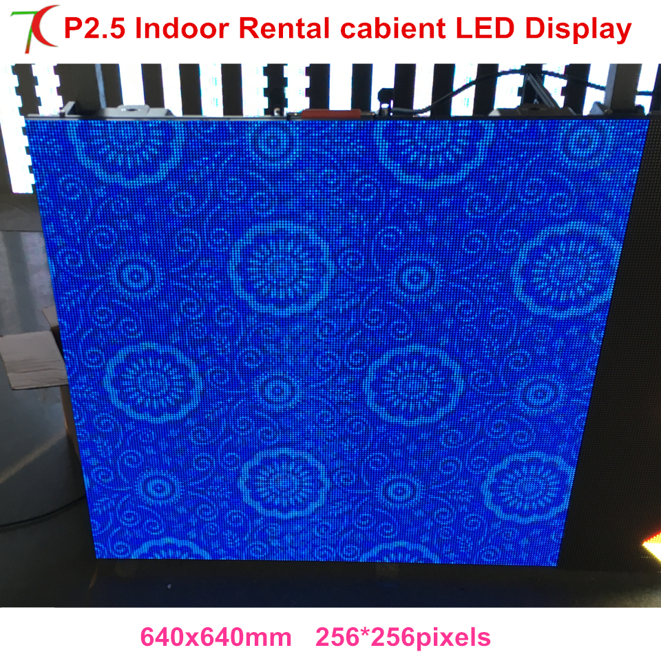 640*640mm Cost-effective P2.5 Indoor Die-casting Aluminum Cabinet Screen Dot Matrix Hd Rental Led Display,1800cd