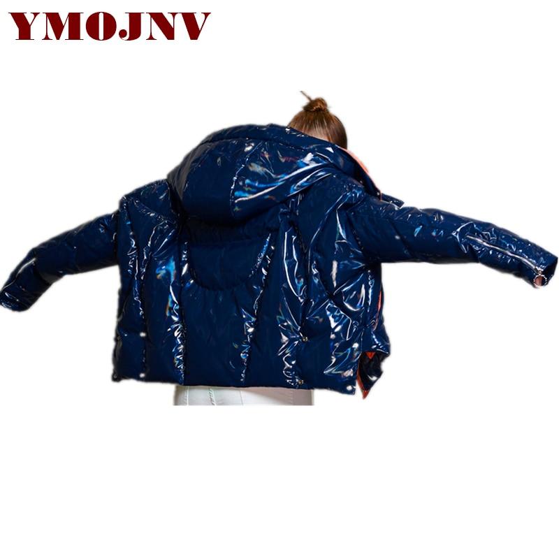 Style Pardessus Femmes Femme Conception Couleurs Épaissir Manteau Brillant En Mélangées Veste Court Ymojnv 2018 Blue Manteaux Originale Duvet Hiver Parka aqWZwf