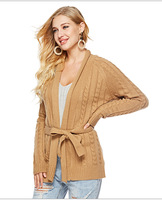 Sweater Real Women New Arrival Women's Free Shipping 2019 Autumn And Winter An American Style Knit Cardigan Large Size