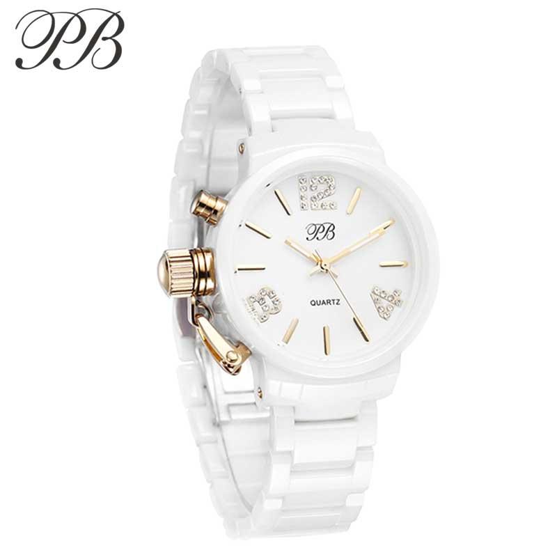 PB Princess Butterfly Fashion Ladies Watch Bracelet Ceramic Gold Plated Gorgeous Women's Watches HL628 картридж hp 130 c8767he для dj6543 8453 2573 6313 21мл черный c8767he