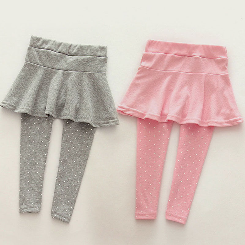 Toddler Cozy Pants Patchwork Skirt Girl 6Colors Toddler Cozy Pantskirt Girl Wool Culotte Kids Child Legging Trousers