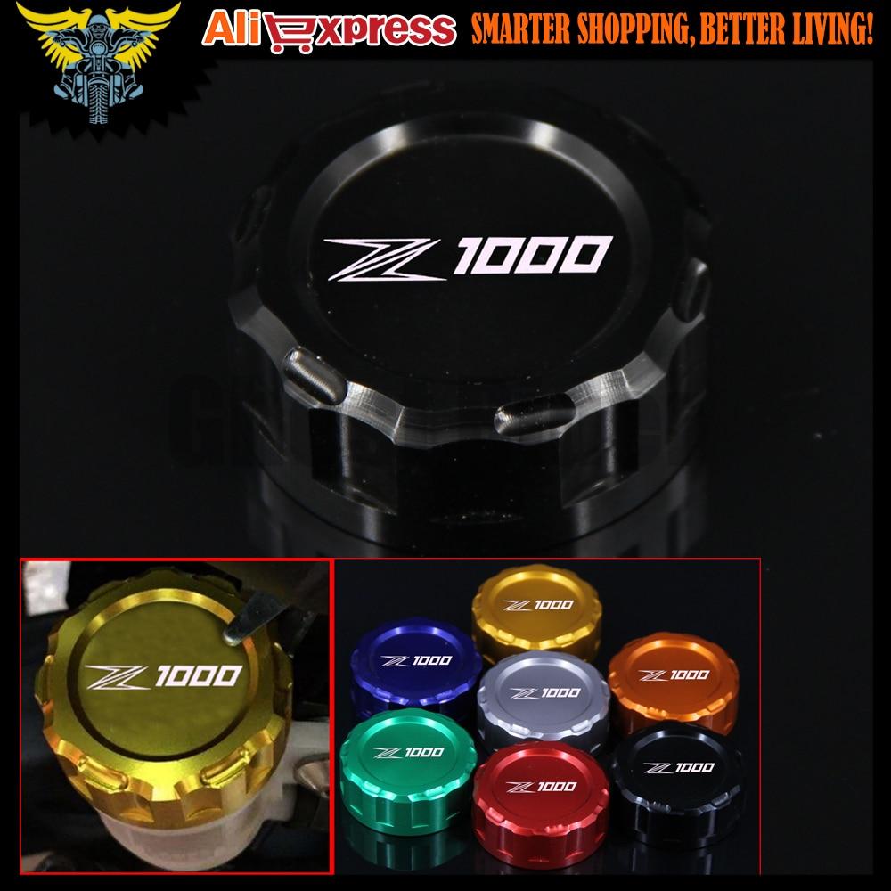 Motorcycle CNC Aluminum Rear Brake Fluid Reservoir Cover Cap For Kawasaki Z1000 07 2008 2009 2010 2011 2012 2013 2014 2015 2016