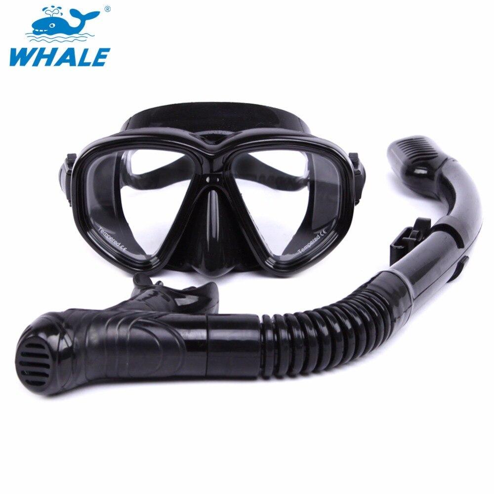 BALEIA Profissional Anti-Fog Subaquática Mergulho Máscara E Snorkel Mergulho  Conjunto de Alta Qualidade Equipamento de Mergulho MSK-500-900 2230a2b4dd