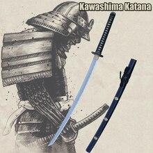 Handmade Folded Steel Chrysanthemum Japanese Samurai Sword Katana Sharp Edge Real Weapon Ready For Battle
