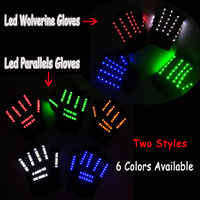 Drama Decorative Neon Light Twin Linear Gloves Event Props Led Gorgeous Rave Gloves New Years Day Wedding Glow Party Supplies