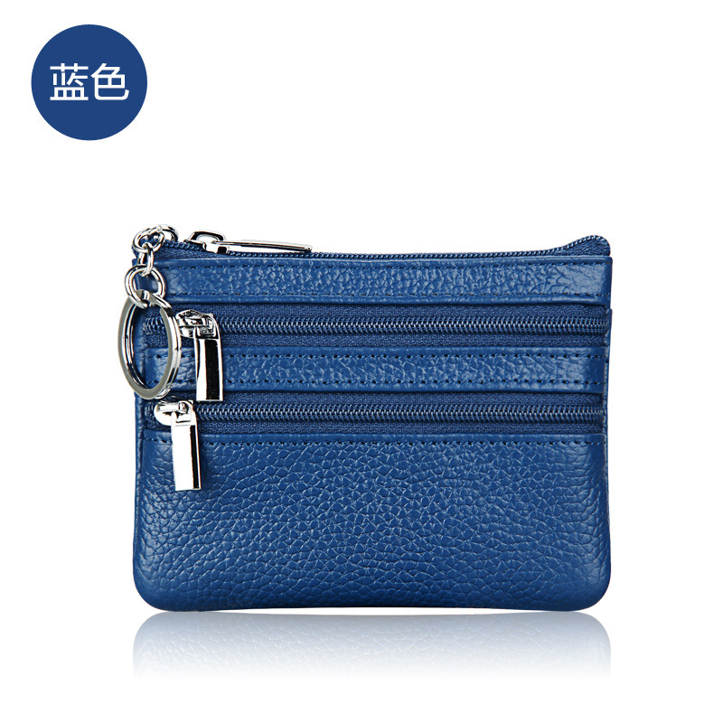 Fashion Small Genuine Leather  luxury brand Wallet womens wallets and purses Zipper Card Coin Key Holder Bag kitavt75417unv10200 value kit advantus id badge holder chain avt75417 and universal small binder clips unv10200