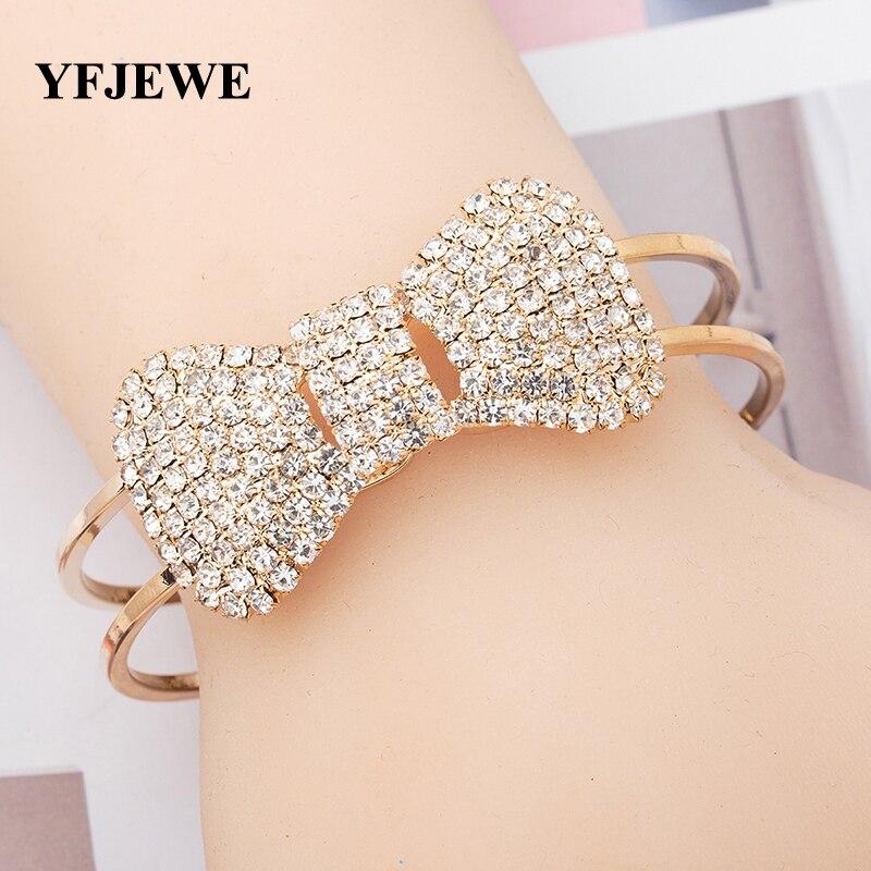 Jewelry small accessories female accessories bracelet metal bow rhinestone bracelet B051