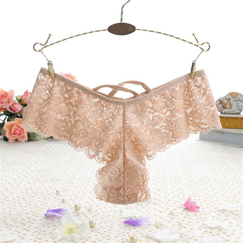 New Sexy Lace Thong Panties Good Elastic Underwear Women Mini G-string G String V Back Strappy Brazilian calcinha 2XL XL-S