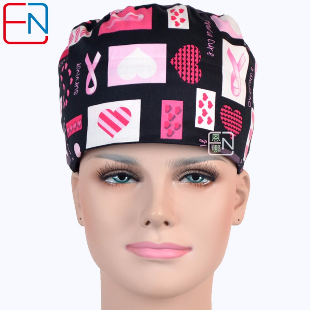 NEW Hennar Brand Long Hair Surgical Cap Doctors And Nurses 100% Cotton Free Shipping