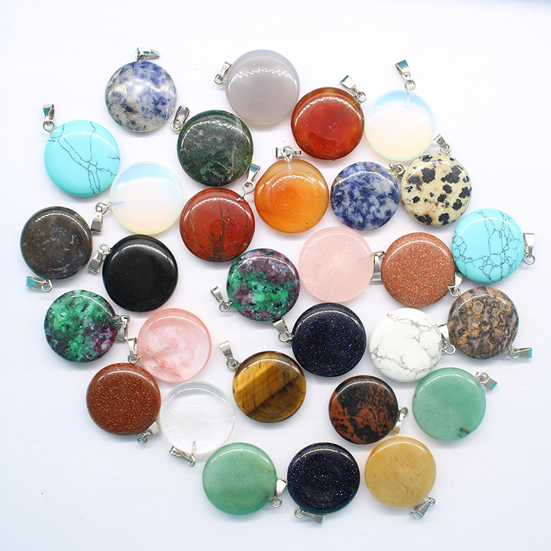 To buy 2017 new products sell like hot cakes style mixed color natural stone drop pendant DZ130charm necklace pendant 30 whols