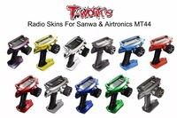 T WORK'S Sanwan MT44 Radio Skin Sticker Mirror Chrome Radio 3D Colors Graphite Sticker for sanwa MT44 Gift screen protector