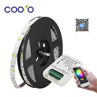 DC12V 24V RGB+CCT LED Strip Light Lamp 5 in 1 LED Flexible Strips with Magic Home Wifi 5 channels RGBW/WW/CW LED Controller Set