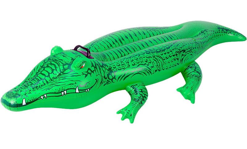 Swim Giant Crocodile Children Ride On Toy Float Inflatable Swan Pool Ring Summer Holiday Water Fun Toys Pvc Kids Funny Gift in Inflatable Bouncers from Toys Hobbies