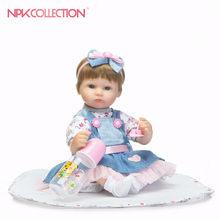 NPK 42cm réaliste Reborn bébé poupées fille Silicone souple Bebes renées poupées réalistes PP remplissage Silicone avec des vêtements mignon jouet