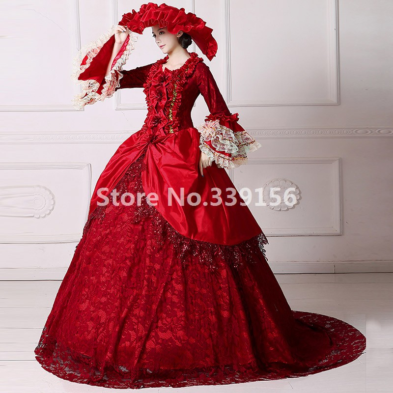 High Quality Marie Antoinette Renaissance Fair Queen Dress Ball Gown Theater Period Costume