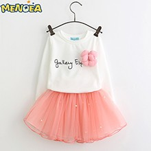 lovely-girls-white-tee-shirt-and-pink-skirt-with-rhinestone-clothes-set-for-kids-girl-autmn