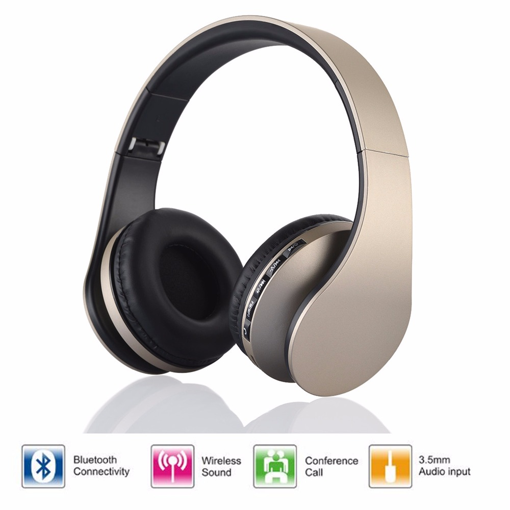 LH-811 Wireless Stereo Heaphone Foldable Bluetooth EDR Earphone Handsfree Headset Mic MP3 FM for xiaomi Phones Tablet PC new universal wireless stereo bluetooth headset heaphone earphone handsfree with mic for smartphone htc lg samsung iphone ps3 tablet
