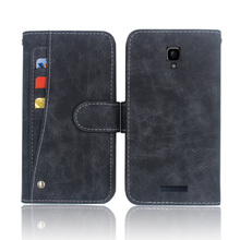 Hot! Highscreen Boost 3 Pro Case High quality flip leather phone bag cover case with Front slide card slot