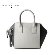 JESSIE&JANE Designer Brand 2016 New Women's Unique Wing Design Split Leather Handbags 1317