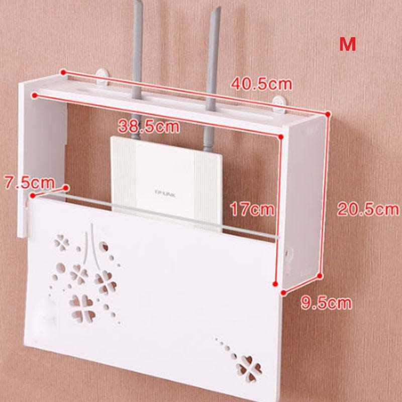 Bezprzewodowy Router wi-fi Box drewno-plastikowa półka ścienna wisząca wtyczka deska uchwyt schowek 3 rozmiar 9 styl organizator