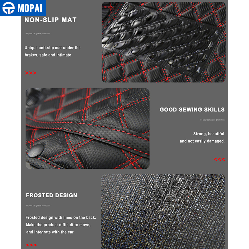 Image 5 - MOPAI Leather Car Interior Floor Foot Mats Carpets Foot Pads for Suzuki Jimny 2007 2017 Car Accessories-in Interior Mouldings from Automobiles & Motorcycles