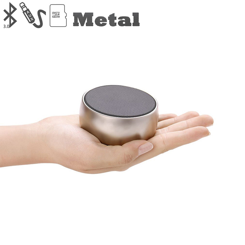 Image 3 - Metal Bluetooth Speaker Outdoor Round Sport Super Bass Music Player MP3 Box with Hands Free Call Support TF Card Mini Speaker-in Portable Speakers from Consumer Electronics