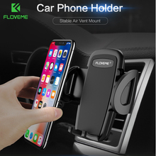 FLOVEME Super Stable Car Phone Holder For iPhone X 8 7 Air Vent Mount Stand Holder For Phone in Car GPS Navigator Support Cradle