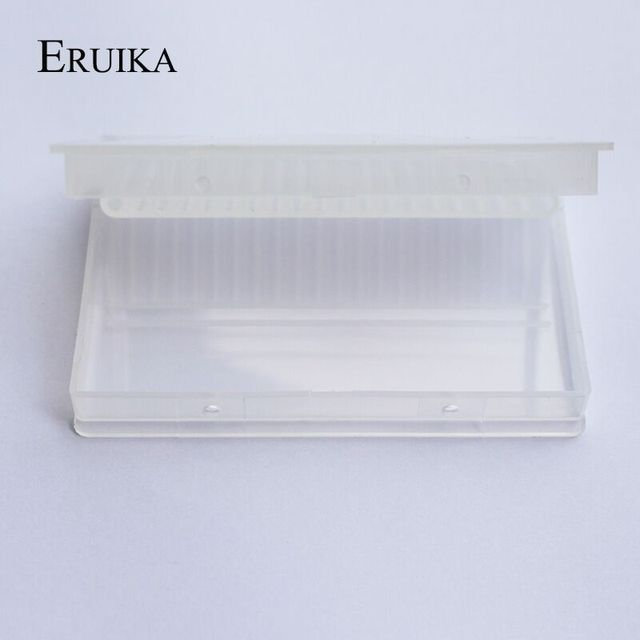 20 Slots Clear Nail Drill Bit Plastic Storage Box Holder Container Manicure Cutters Display Nail Accessorie 4