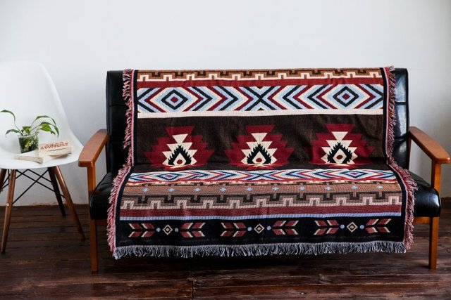 2016 Cotton Fringed Vintage Baby Blanket Throws On Sofa Bed Plane Travel Plaids Hot