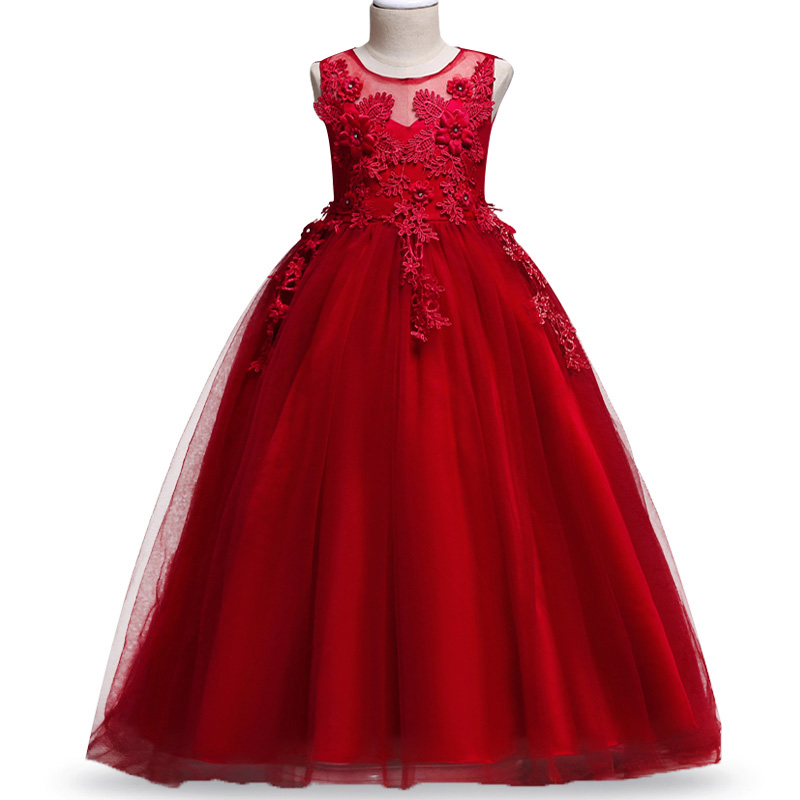 2019   Girls   evening wedding birthday   flower     girl     dresses   for party   girls     dress   first communion princess   dress   baby tutu costume