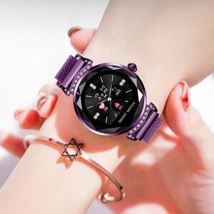 Image 4 - Женские Водонепроницаемые Смарт часы RUNDOING H2, фитнес трекер с пульсометром, модные спортивные Смарт часы для android и IOS