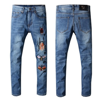 Blue Skinny Jeans Slim Trousers